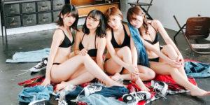 AKB48岡田奈々・村山彩希・向井地美音・込山榛香のBOMB水着グラビアオフショット!