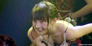 NMB48山本彩加ちゃんが劇場公演ですごい胸チラ!