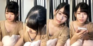 HKT48月足天音ちゃんのSHOWROOMブラチラGIF動画!