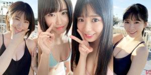 NMB48上西怜ちゃん・安田桃寧ちゃんの『BOMB! 2019年12月号』水着グラビアオフショット!