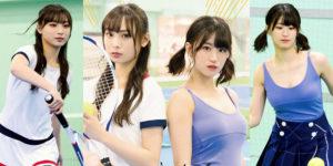 NMB48梅山恋和ちゃん・上西怜ちゃんのテニスチャレンジグラビア画像!