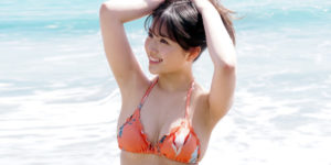 大和田南那ちゃんの『週刊FLASH 2020年5月26日号』水着グラビアオフショット!