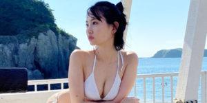 永尾まりやちゃんの『週刊FLASH 2020年9月22日』水着グラビアオフショット!