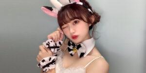 NGT48中井りかちゃんの牛コスプレ風画像!